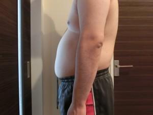 ライザップ2日目の体型「横」の画像