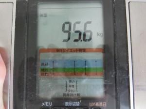 ライザップ2日目の体重の画像
