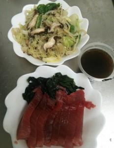ライザップ2日目の夕食の画像