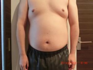 ライザップ3日目の体型「正面」の画像