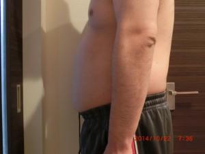 ライザップ4日目の体型「横」の画像