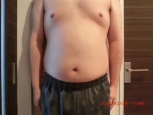ライザップ5日目の体型「正面」の画像