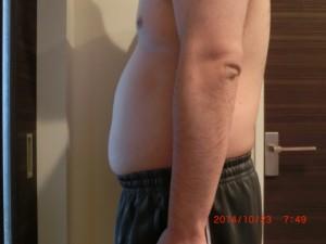 ライザップ5日目の体型「横」の画像