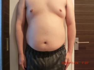 ライザップ6日目の体型「正面」の画像