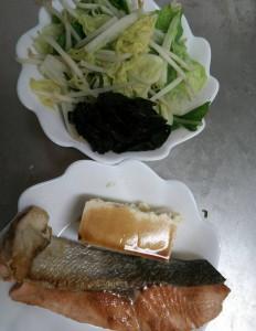 ライザップ6日目の夕食の画像