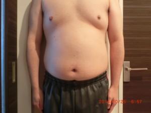 ライザップ7日目の体型「正面」の画像