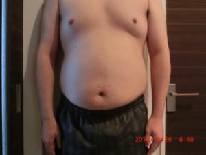 ライザップ10日目の体型「正面」の画像