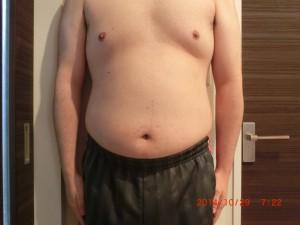 ライザップ11日目の体型「正面」の画像