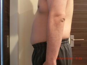 ライザップ11日目の体型「横」の画像