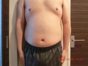 ライザップ12日目の体型「正面」の画像
