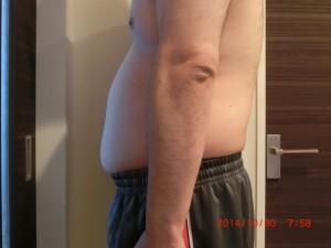ライザップ12日目の体型「横」の画像