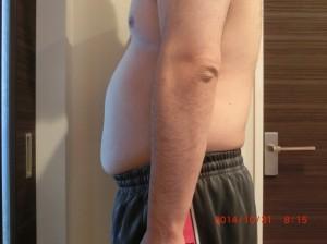 ライザップ13日目の体型「横」の画像