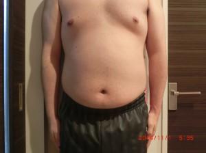 ライザップ14日目の体型「正面」の画像