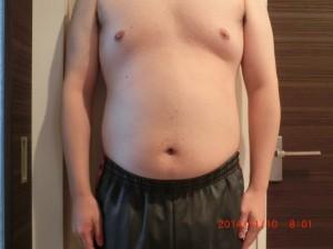 ライザップ23日目の体型「正面」の画像