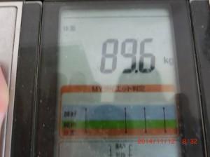ライザップ25日目の体重の画像