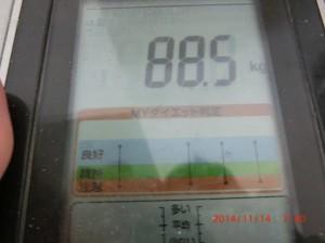 ライザップ27日目の体重の画像