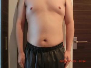 ライザップ27日目の体型「正面」の画像