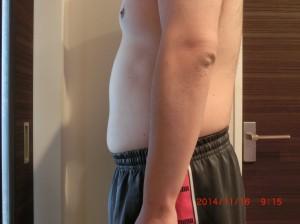 ライザップ29日目の体型「横」の画像