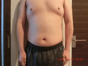 ライザップ30日目の体型「正面」の画像