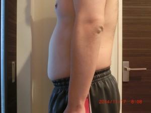 ライザップ30日目の体型「横」の画像