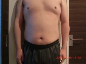 ライザップ31日目の体型「正面」の画像
