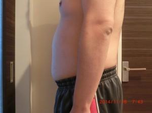 ライザップ31日目の体型「横」の画像