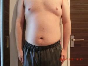 ライザップ15日目の体型「正面」の画像