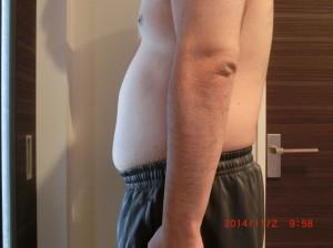 ライザップ15日目の体型「横」の画像
