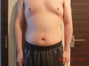 ライザップ33日目の体型「正面」の画像