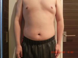 ライザップ35日目の体型「正面」の画像