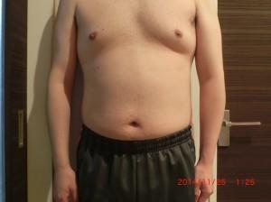 ライザップ37日目の体型「正面」の画像