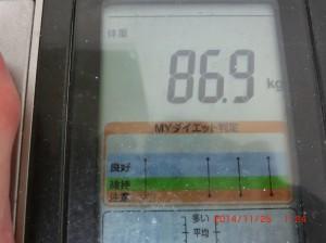 ライザップ37日目の体重の画像