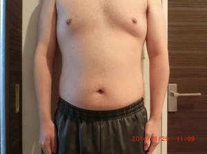 ライザップ38日目の体型「正面」の画像