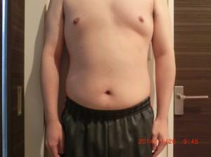 ライザップ39日目の体型「正面」の画像