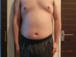 ライザップ16日目の体型「正面」の画像