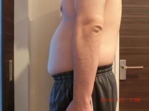 ライザップ16日目の体型「横」の画像
