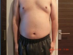 ライザップ17日目の体型「正面」の画像