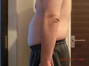 ライザップ17日目の体型「横」の画像