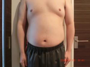 ライザップ18日目の体型「正面」の画像