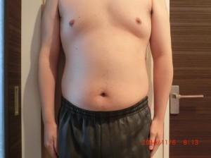 ライザップ19日目の体型「正面」の画像