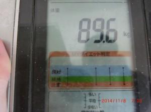 ライザップ21日目の体重の画像
