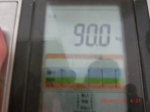 ライザップ22日目の体重の画像