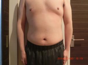 ライザップ43日目の体型「正面」の画像