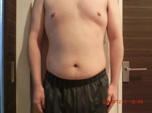 ライザップ44日目の体型「正面」の画像