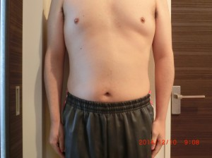 ライザップ52日目の体型「正面」の画像