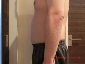 ライザップ53日目の体型「横」の画像