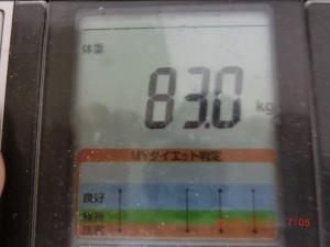 ライザップ54日目の体重の画像