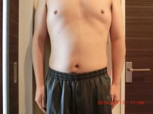 ライザップ55日目の体型「正面」の画像