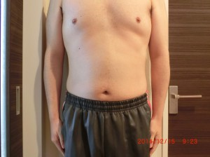 ライザップ58日目の体型「正面」の画像