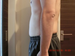 ライザップ58日目の体型「横」の画像